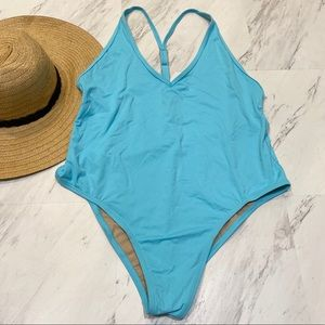 New! VYB Y Back Blue One Piece Swimsuit L